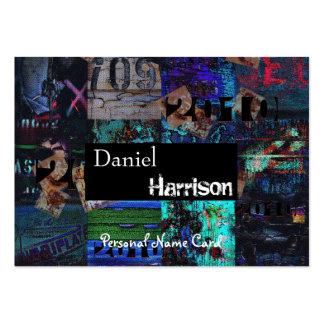 Profil-persönlicher Namenskartestädtischer Grunge Mini-Visitenkarten