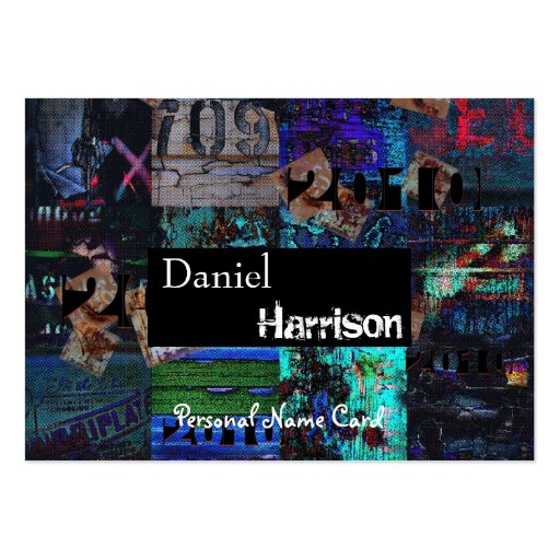 Profil-persönlicher Namenskartestädtischer Grunge Visitenkartenvorlage