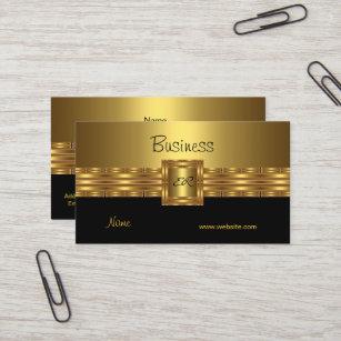 Schwarzes Und Gold Visitenkarten Zazzle De