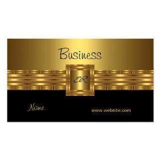 Profil-Visitenkarte-Gold auf Goldschwarzem Visitenkarten