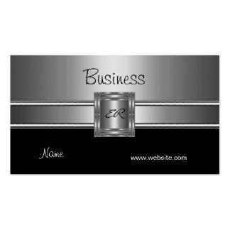 Profil-Visitenkarte-Silber-Chrom-Schwarzes