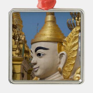 Profil von Buddha-Statue Silbernes Ornament