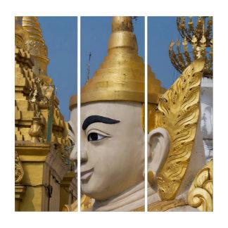 Profil von Buddha-Statue Triptychon