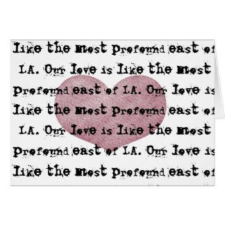 Profunde Liebe Karte