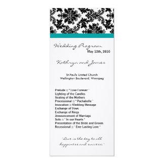 Programm der Hochzeits-4x9 - schwarzer 10,2 X 23,5 Cm Einladungskarte