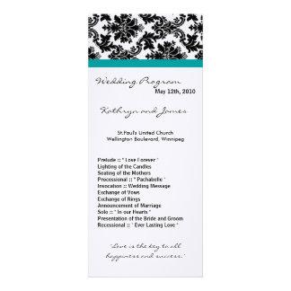 Programm der Hochzeits-4x9 - schwarzer Einladungskarte