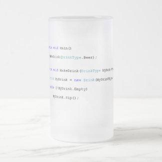 Programmierer-Bier-Tasse C scharfe Matte Glastasse