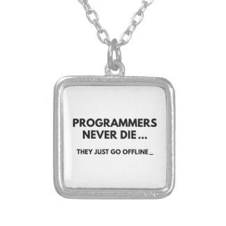Programmierer die nie halskette mit quadratischem anhänger