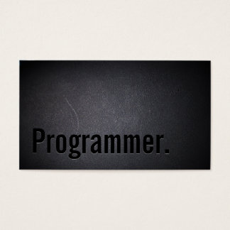 Programmierer-eleganter schwarzer beruflicher visitenkarte