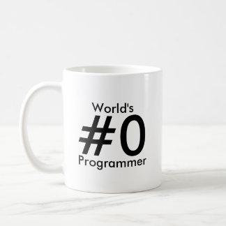 Programmierer-Tasse das #0 der Welt Tasse