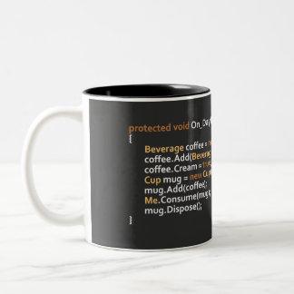 Programmierer-Tasse Zweifarbige Tasse