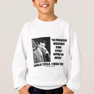 Progressive Entwicklung Nikola Teslas des Sweatshirt