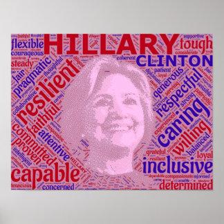 ProHillary Clinton-Stützplakat Poster