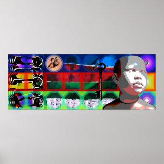 Projekt-Beethovens GMT 24 H psychedelische Rahmen Poster