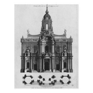 Projekt für die Kirche des Heiligen-Sulpice Postkarte