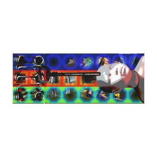 Projekt-Puppen-Schlüssel-psychedelische Rahmen C Leinwanddruck