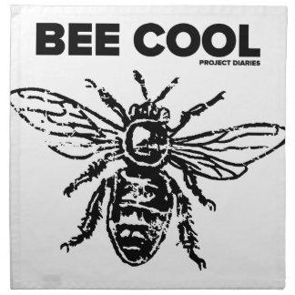 """Projekt-Tagebücher """"Bienen-cooler"""" Entwurf Stoffserviette"""