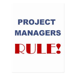 Projektleiter-Regel! Postkarte