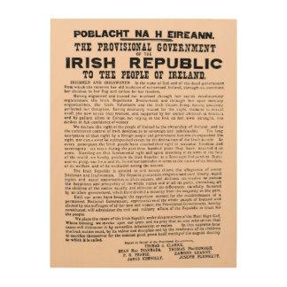 Proklamation 1916 der Republik Irland Irland Holzleinwand