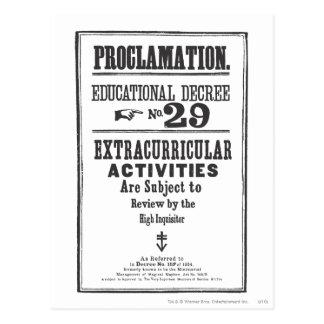 Proklamation 29 postkarte