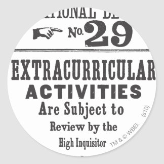 Proklamation 29 runder sticker