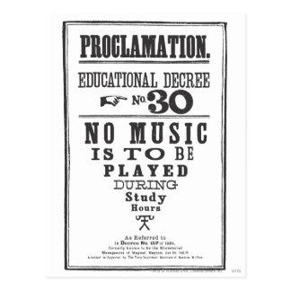 Proklamation 30 postkarte