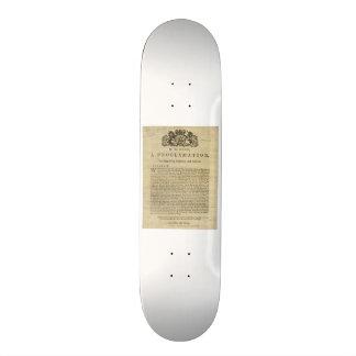 Proklamation durch den König für die Aufhebung des 21,6 Cm Skateboard Deck