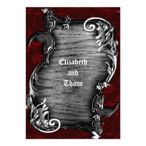 Proklamations-gotische Vampirs-Einladung