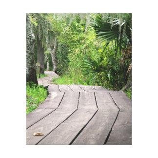Promenade durch den Sumpf Leinwanddruck