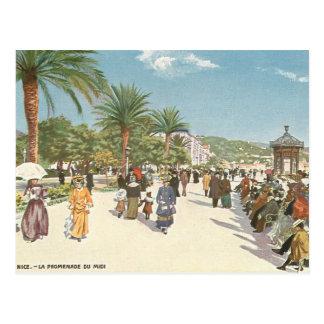 Promenade in Nizza Postkarte