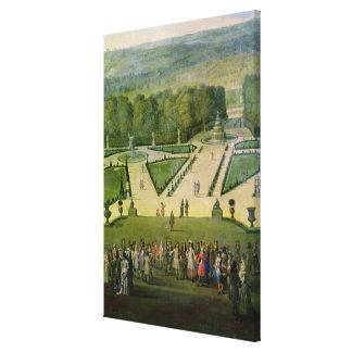 Promenade von Louis XIV durch den Parterre du Nord Gespannte Galeriedrucke