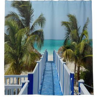Promenade, zum des Palme-Duschvorhangs auf den Duschvorhang