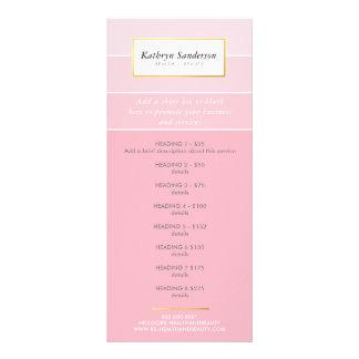 PROMO-PREIS HÄLT LISTE modernes schickes rosa Bedruckte Werbekarte