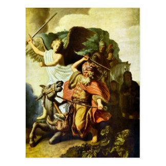 Prophet Balaam und der Esel durch Rembrandt Postkarte
