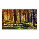 Prophotographie (Wald) Visitenkarten Vorlage
