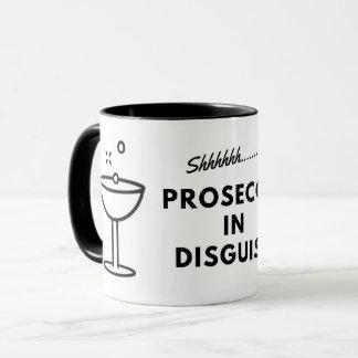 Prosecco in der Verkleidungskaffee-Tasse Tasse
