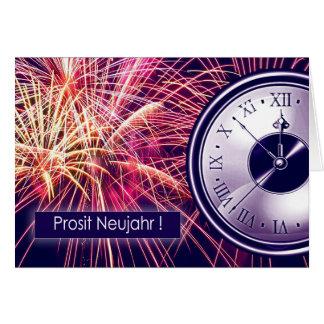 Prosit Neujahr. Deutsche der Gruß-Karten des neuen Karte