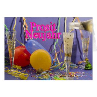 Prosit Neujahr Grußkarte