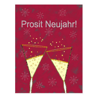 Prosit Neujahr Postkarte