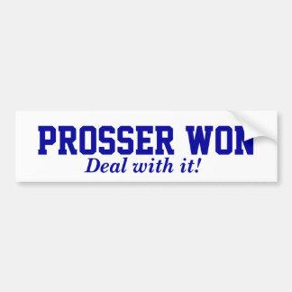 Prosser gewann autoaufkleber