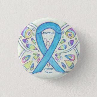 Prostatakrebs-blaues Runder Button 3,2 Cm