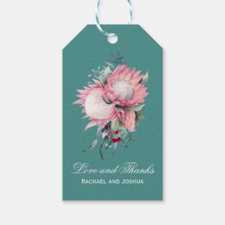 Protea-Fantasie-Blumenhochzeit danken Ihnen Geschenkanhänger