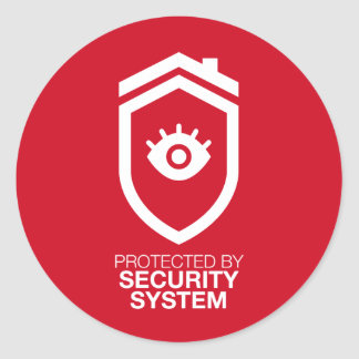 Protected by Security System Runder Aufkleber