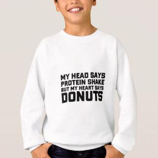 Protein-Erschütterung oder Schaumgummiringe Sweatshirt