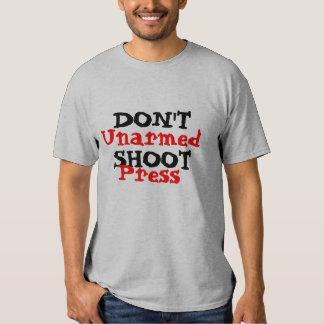 Protest-Aktivist schießen nicht unbewaffnete T-shirt