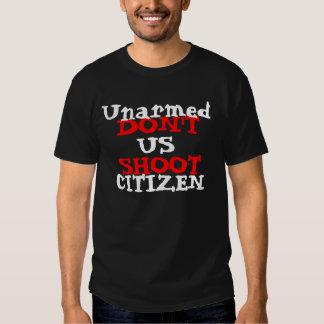 Protest-Aktivist schießen nicht unbewaffneten Hemd
