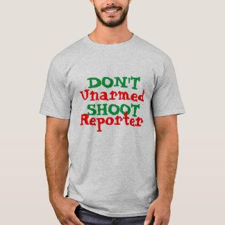 Protest-Aktivist schießen nicht unbewaffneten T-Shirt
