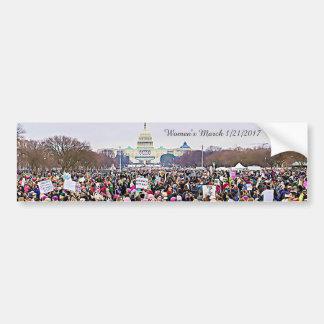 Protest Anti-Trumpf der März der Frauen in Autoaufkleber