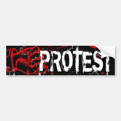 PROTEST AUTO AUFKLEBER