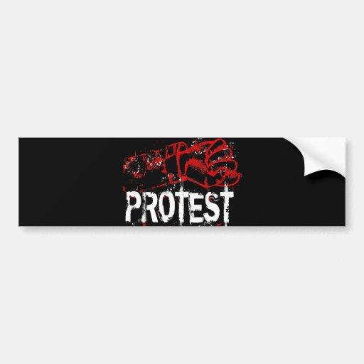 PROTEST AUTO STICKER